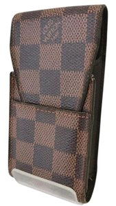 Louis Vuitton Authentic Louis Vuitton Damier Cigarette Brown Case Holder