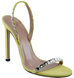 Gucci 370472 Sandal Suede Leather Light Green Sandals