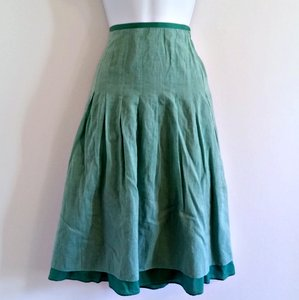 Gap Layered Layers Emerald Jewel Tone Skirt Green