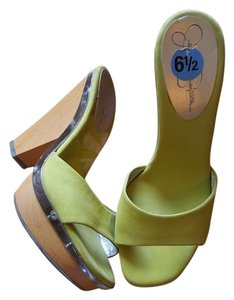 Jessica Simpson Lime Green Platforms