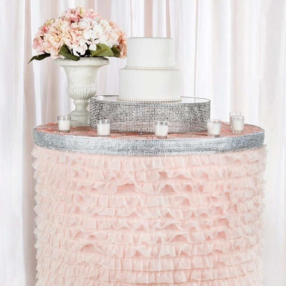 you choose table skirt available in multiple sizes and colors event party bridal shower