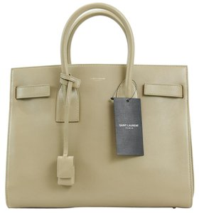 Saint Laurent Ysl Sac De Jeer Ysl Handbag Satchel in Beige