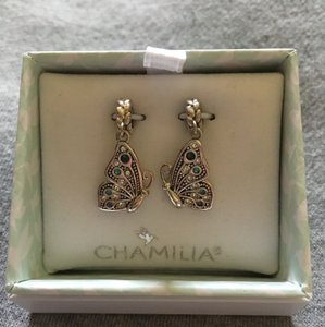 Chamilia Nwt Chamilia Best Friend Butterfly Sterling Silver & Swarovski Crystal Best Friend Charms