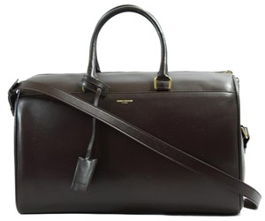 Saint Laurent Duffle Ysl Duffle Duffle Travel Satchel in Burgundy