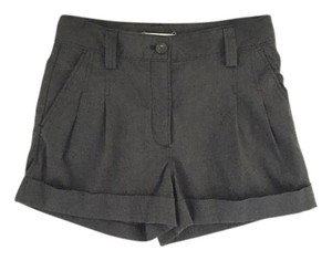 Fossil Cuffed Pleated Dress Shorts Charcoal Grey