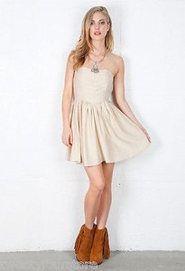 Keepsake the Label short dress Ivory Set Me Tube W Exposed Zipper Closure on Tradesy