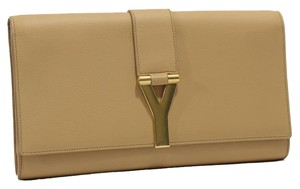 Saint Laurent Ysl Tan Clutch