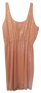 MM Couture Sparkle Nude Sleeveless Dress