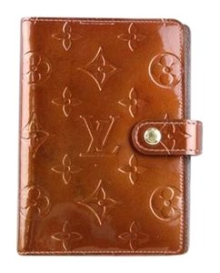 Louis Vuitton Vernis Leather Brown Agenda Cover PM (Ships Next Day)