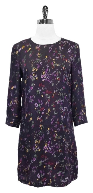 Preload https://item2.tradesy.com/images/see-by-chloe-purple-floral-print-silk-shift-knee-length-short-casual-dress-size-4-s-1617056-0-0.jpg?width=400&height=650