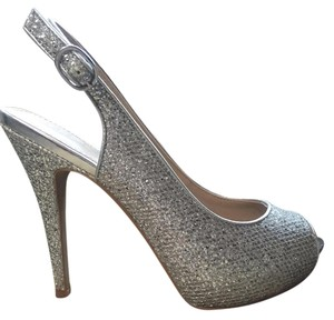 ALDO Metallic Slingback Silver Formal