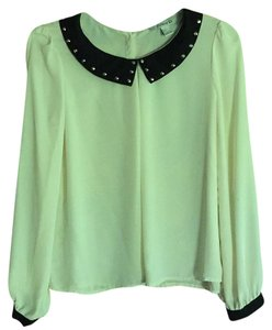 Forever 21 Top Ivory with Black