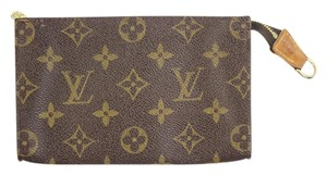 Louis Vuitton Brown Cosmetic Make Up Travel Pouch LVTY34