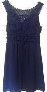 Max Studio short dress Royal Blue Detail Summer on Tradesy
