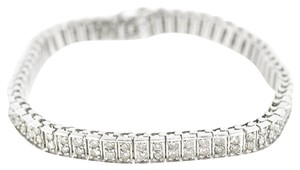 14K White Gold 5.0Ct Diamond Bracelet 19.9 Grams 7.5