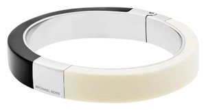 Michael Kors Michael Kors MKJ5265 Women's Color Block Ivory/Black Hinged Bangle Bracelet NEW! $115