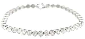 14K White Gold 5.0Ct Diamond Bracelet 13.3 Grams 7