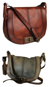 Fossil Vintage Revival Reissue Flap Cross Body Bag