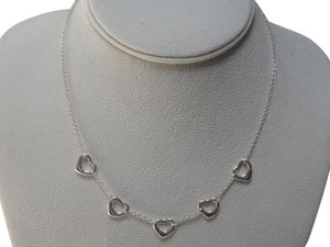 Tiffany & Co. Tiffany &CO Sterling Silver 5 open Heart necklace 16