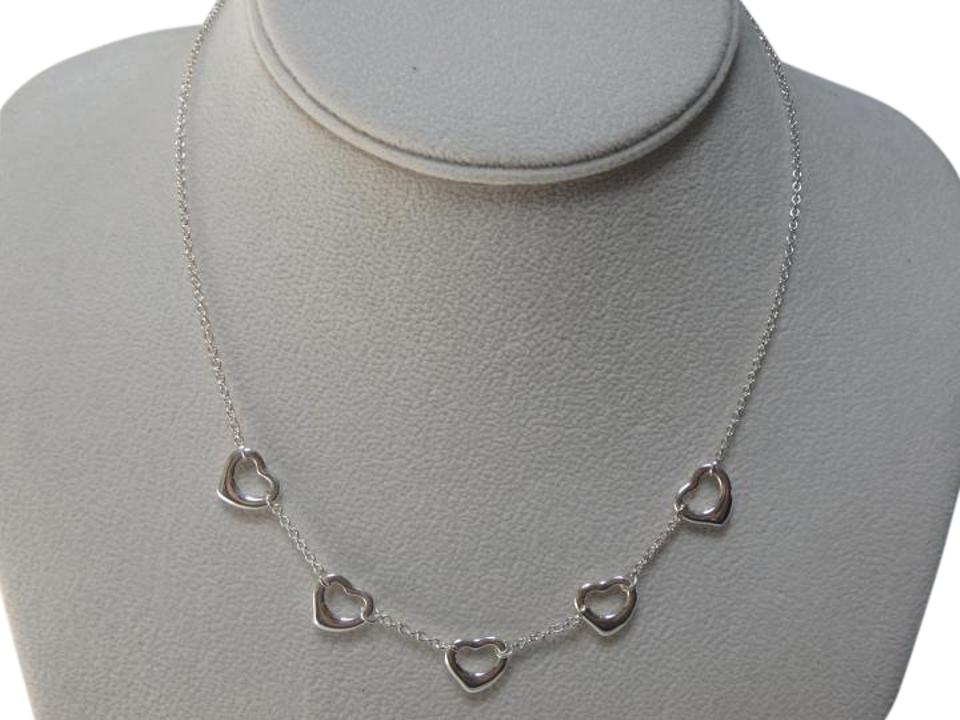 Tiffany co sterling silver elsa peretti 5 open heart 16 long tiffany co elsa peretti sterling silver 5 open heart necklace aloadofball