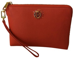 Tory Burch Wristlet in Poppy Coral