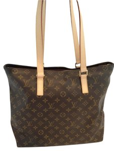 Louis Vuitton Cabas Mezzo Tote in Brown