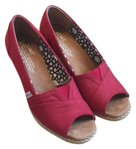 TOMS Red Sandals