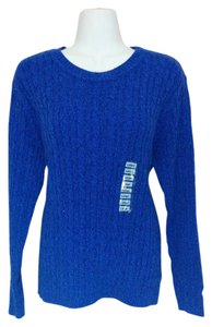 Karen Scott Cable Knit Crewneck Marled Sweater