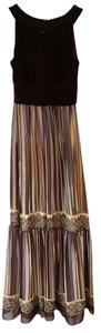 Brown Multi Stripe Maxi Dress by Elie Tahari Maxi Maxi