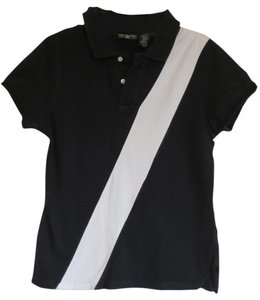 Polo Ralph Lauren Stripe Pique T Shirt Black and White