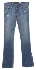 AG Studio Distressed Boot Cut Jeans-Light Wash