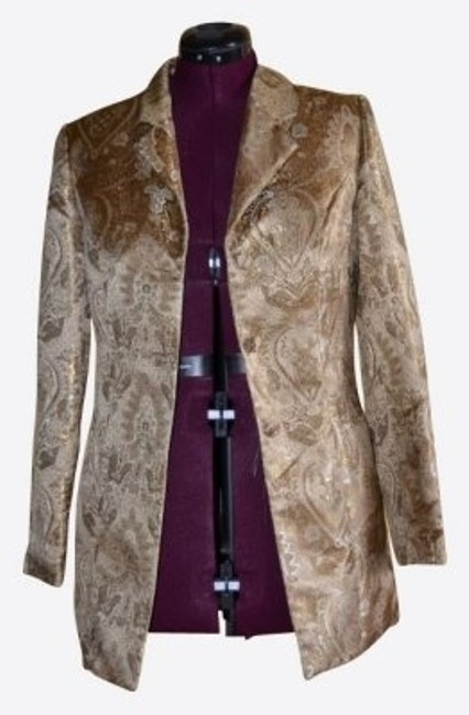 Jaclyn Smith Holiday Formal Jacket Gold Blazer