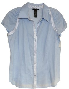 Kenneth Cole Work Cotton Top Blue