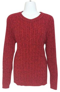 Karen Scott Cable Knit Crewneck Sweater