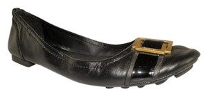 Calvin Klein Leather Buckle Cushioned Black Flats