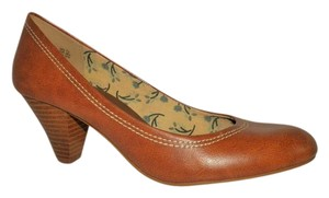 American Eagle Outfitters Wooden Heel Brown Pumps