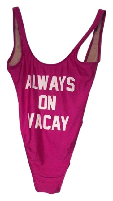 Item - Pink Magenta Tan Nude White Always On Vacay One-piece Bathing Suit Size 4 (S)