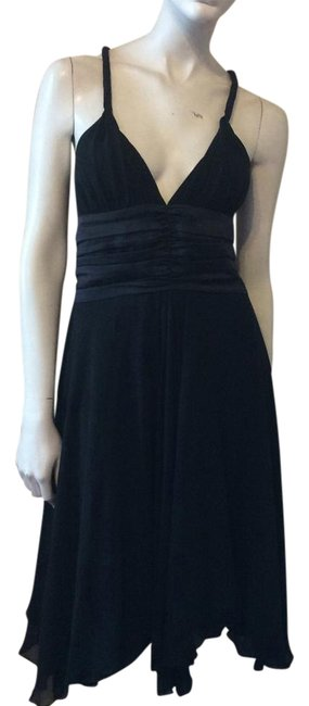 Item - Black Knee Length Night Out Dress Size 4 (S)