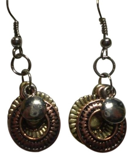 Other New Silver & bronzetone charm earrings