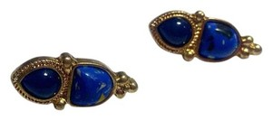Other New Blue & Gold Tone Stud Earrings 1 in. long. J2644 Summersale