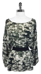 Stella McCartney Top Muted Green Silk
