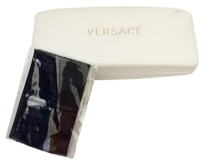 Versace FREE SHIPPING ~ VERSACE Sunglass Eyeglass (with cloth)Case White with Gold Lettering
