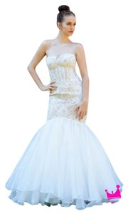 Mon Cheri 116743 Lace Organza Mermaid Wedding Dress