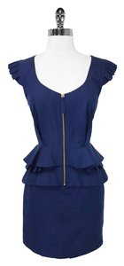 Temperley London short dress Navy Cotton & Silk on Tradesy