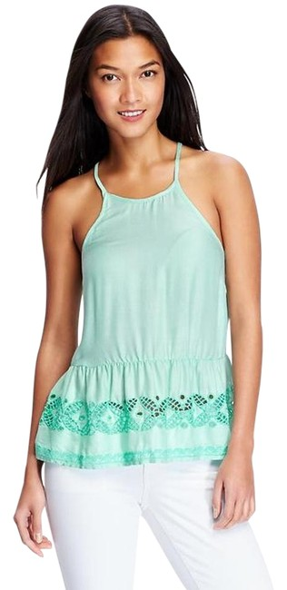 Item - Green Baby Doll Mint Large Retail Tank Top/Cami Size 12 (L)