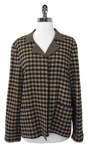 Ellen Tracy Plaid Wool Blend Jacket