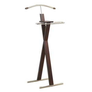 Monarch Monarch Clothing Valet Stand, Cappuccino and Chrome, Retail $109.99