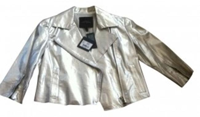 Robert Rodriguez silver Leather Jacket