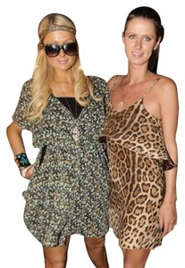 Blu Moon short dress Sandwash leopard on Tradesy