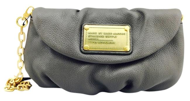 Item - Small Chain Gray/ Gold Leather Shoulder Bag
